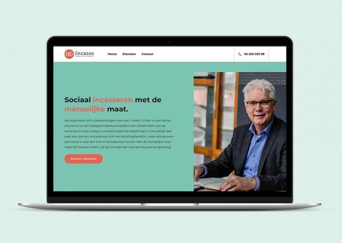 Nieuwe website van HD Incasso